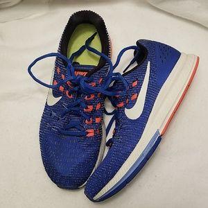 Nike Zoom Running Shoe Blue and Orange Size 7.5